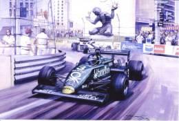 Michel Alboreto  -  Tyrrell  -  Montreal GP 1983   - Michael Turner Artwork -   Postcard China - Grand Prix / F1