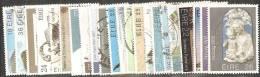 Irlanda 1982 Usato - Mi. 460/61; 464/83  Annata Completa Commemorativi 22 Valori - 1949-... Repubblica D'Irlanda