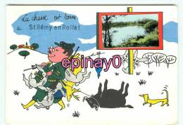 Br - 03 - SAINT REMY EN ROLLAT - Carte Humoristique - Chasse -chasseur - Animaux - - France