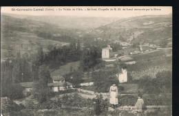 Saint-Germain-Laval . La Vallée De L'Aix -Au Fond , Chapelle De N.D .de Laval Restaurée Par La Diana . - Saint Germain Laval