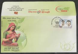 INDIA  2012  Save Girl Chils - Save Earth  Union Bank  Special Cover   #  45175  Indien Inde - Childhood & Youth