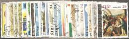 Irlanda 1986 Usato - Mi. 584/90; 594/612  Annata Completa Commemorativi 26 Valori - 1949-... Repubblica D'Irlanda