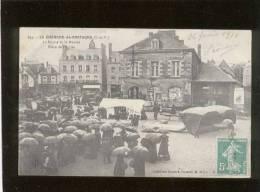 35 La Guerche De Bretagne La Mairie & Le Marché Place De L'église édit. Drouard N° 644 Animée Rare,  Jour De Pluie - La Guerche-de-Bretagne