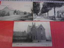 3 Postk.  OVERPELT:  FABRIEK  (drukker Jacbs)   Villa  (2) - Overpelt