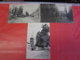 3 Postk.  OVERPELT:  USINES VILLA JEANNEd'ARC,      SCHUTTERSBOOM,     KERK - Overpelt