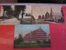 3 Postk.  OVERPELT:     WEG Naar NEERPELT,      Meisjesschool,       LINDEL-HOEVEN - Overpelt