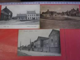 3 Postk.  OVERPELT:   DORP , (drukker Jacobs)       Fabrieken,       Marktplein - Overpelt