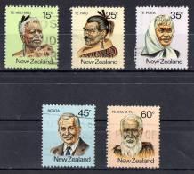 New Zealand 1980 Maori Personalities Set Of 5 Used - - New Zealand