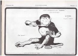 Les Animaux  De Gibbs   Serie Des Singes  BENJAMIN RABIER      SAVON  DENTIFRICE   SALLE DE BAIN - Publicités