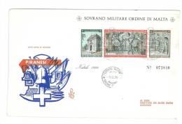 FDC VENETIA - ANNO  1970 - FOGLIETTO NATALE -   SMOM - S.M.O.M. SOVRANO MILITARE ORDINE DI MALTA - Sovrano Militare Ordine Di Malta