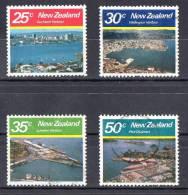 New Zealand 1980 Large Harbours Set Of 4 Used - - New Zealand