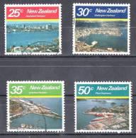 New Zealand 1980 Large Harbours Set Of 4 Used - - - New Zealand