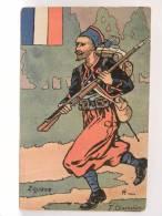 CPA  Illustrateur T Chamouin - ZOUAVE -  Guerre 1914 1918 - Guerre 1914-18