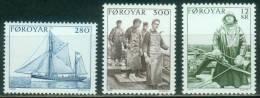 Färöer  1984  Fischfang  (3 ** (MNH) Kpl. )  Mi: 103-05 (6,00 EUR) - Féroé (Iles)