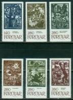 Färöer  1984  Märchenillustrationen  (6 ** (MNH) Kpl. )  Mi: 106-11 (32,00 EUR) - Féroé (Iles)