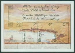 Färöer  1986  Intern. Briefmarkenausstellung HAFNIA '87, Kopenhagen I  (1 Bl. ** (MNH) Kpl. )  Mi: Bl. 2 (10,00 EUR) - Féroé (Iles)