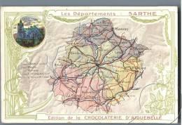 Sarthe - Edition De La Chocolaterie D'Aiguebelle - France - Landkarten