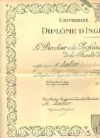 UNIVERSITE   DE   CAEN   &  DIPLOME   D  INGENIEUR   CHIMISTE   &  26  OCT.1951 - Diplômes & Bulletins Scolaires