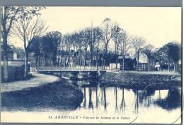 Abbeville - Vue Sur La Somme Et Le Canal - France - Abbeville