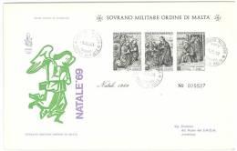 FDC VENETIA - ANNO  1969 - NATALE  -   SMOM - S.M.O.M. SOVRANO MILITARE ORDINE DI MALTA - Sovrano Militare Ordine Di Malta