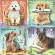 HR 2013-1068-71 DOGS, CROATIA HRVATSKA, 1 X 4v, MNH - Kroatien
