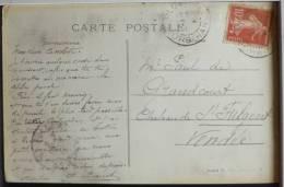 Manuscrit Unique Ploermel Voyagé 1911 Signé AUGUSTE PROUST A PAUL DE GRANDCOURT Timbre Cachet Chateau St Fulgent - Hommes Politiques & Militaires