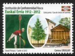 1340 URUGUAY  2012  -100 Años - Institución De Confraternidad Vasca Euskal Erría 1912 - 2012 - Uruguay