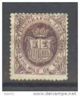 ESTGF30-L3303TOEspagne.Spain.ESCUDO DE ESPAÑA.TELEGRAFOS  DE ESPAÑA .1869 (Ed 30*)  Charnela.MUY BONITO. - Sellos