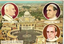 LE VATICAN - Basilique Et Place St Pierre + Portraits De Jean Xxii I- Paul Vi Et Pie Xii - Vaticaanstad