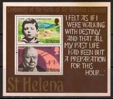 ST HELENA 1974 CHURCHILL SC # 286a MNH - St. Helena