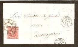 ESPAÑA 1864 - Primer Centenario - Envuelta - 1850-68 Regno: Isabella II