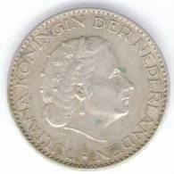PAESI BASSI 1 GULDEN 1955 AG - [ 3] 1815-… : Regno Dei Paesi Bassi
