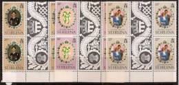 ST HELENA 1981 ROYAL WEDDING BLOCK OF 4 WITH GUTTER SC # 353-355 MNH - St. Helena