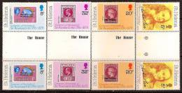 ST HELENA 1979 STAMP ON STAMP PAIR WITH GUTTER SC # 328-321 MNH - Isola Di Sant'Elena