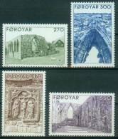 Färöer  1988  Ruine Des Doms Bei Kirkjubøur  (4 ** (MNH) Kpl. )  Mi: 175-78 (6,00 EUR) - Féroé (Iles)