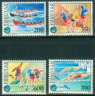 Färöer  1989  Intern. Sportspiele Der Kleinen Inseln  (4 ** (MNH) Kpl. )  Mi: 186-89 (8,00 EUR) - Féroé (Iles)