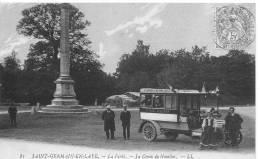 SAINT GERMAIN EN LAYE : La Forêt , La Croix De Noailles Et L´Auto Omnibus - CPA Postée En 1907 - St. Germain En Laye