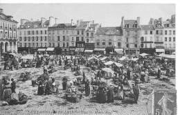 SAINT GERMAIN EN LAYE : La Place De Marché Neuf - CPA Postée En 1908 - Très Animée - St. Germain En Laye