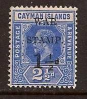 CAYMAN ISL. 1917 OVERPRINT WAR SC # MR2 MNH - Cayman (Isole)