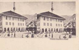 BiH96  --  BOSNIEN  --  TRAVNIK   -  MOSQUE, MOSCHEE, DJAMI   -  STEREO PC - Stereoskope - Stereobetrachter
