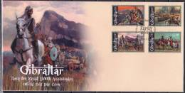 Gibraltar 2011 FDC 1300th Ann. Of Tariq Ibn Ziyad Horses Horse Chevaux Cheval Paarden Caballos Cavalli  Pferde - Famous People