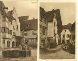 68 CPA Eguisheim 2 Cartes Rue Du Village  Fontaine Bois - Autres Communes