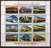 SIERRA LEONE 1995 S/S Of 12 RAILWAYS OF THE WORLD MNH - Sierra Leone (1961-...)