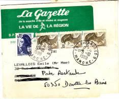 PNU 2183x3+2234 Au Dos Demitaxe Manuscrite Journal Avranches Donville Poste Restante Rare Tarif - Journaux