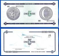 Cuba 5 Pesos C Second Issue Certificat Caraibe Paypal Skrill OK - Cuba