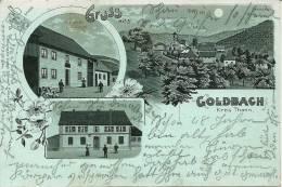 68 CPA Goldbach Gruss Kreis Thann Restaurant Au Cerf  Mairie Carte Ancienne A La Lune - Sonstige Gemeinden