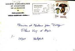 PNU 2477 Flamme De Valognes Pli Local - Marcophilie (Lettres)