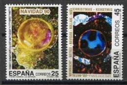 SERIE TIMBRES ESPAGNE NOUVEAUX 1990 NOEL PEINTURE IMPRESSIONISME POÈME COSMIQUE J A SISTIAGA - Impresionismo