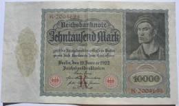 GERMANIA REPUBBLICA DI WEIMAR !!! 10000 MARK 1922 !!! - [ 3] 1918-1933 : Weimar Republic