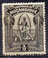 MOZAMBIQUE COMPANY 1918 Tusks -½c. Black MH - Mosambik